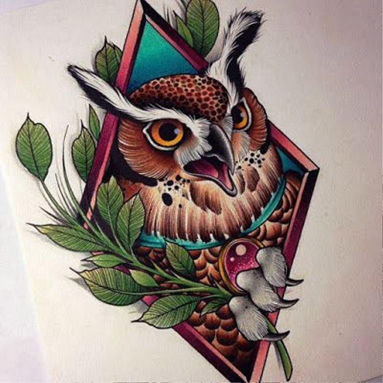 TattooMix Dövmecim baykuş owl dövmeleri (4)