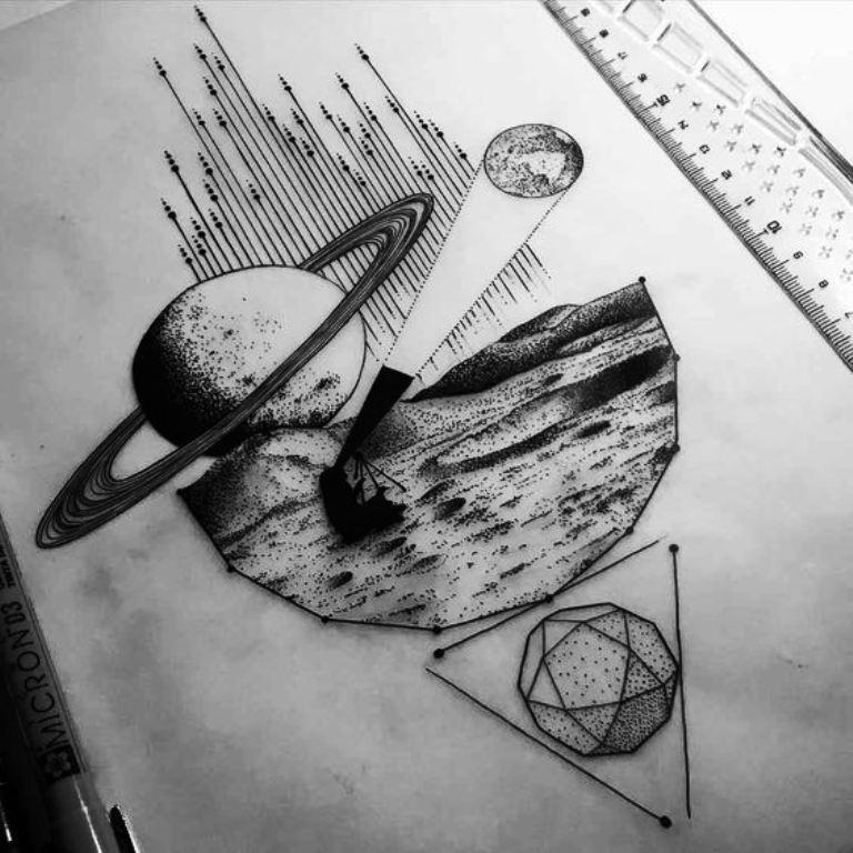 TattooMix Dövmecim gezegen uzay dövmeleri (7)