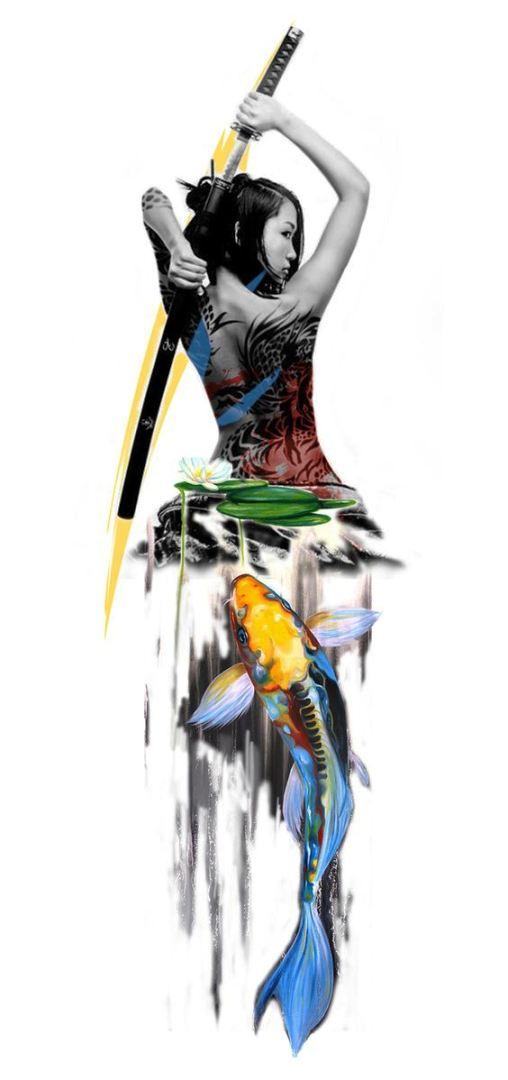 TattooMix Dövmecim samurai geyşa dövmeleri (15)