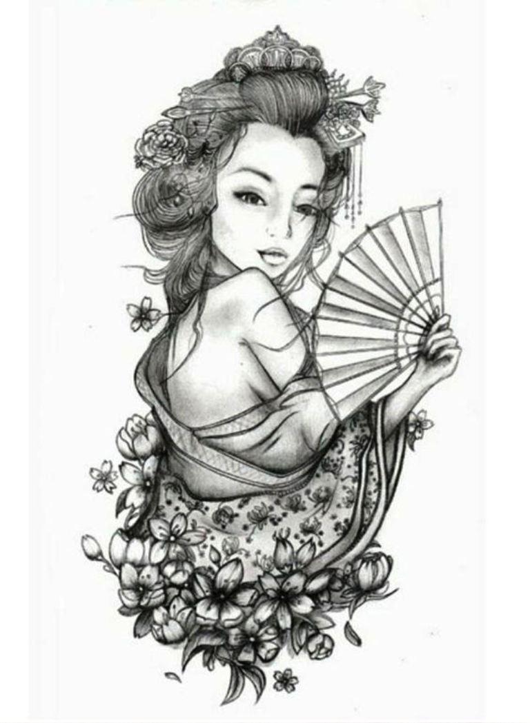 TattooMix Dövmecim samurai geyşa dövmeleri (16)