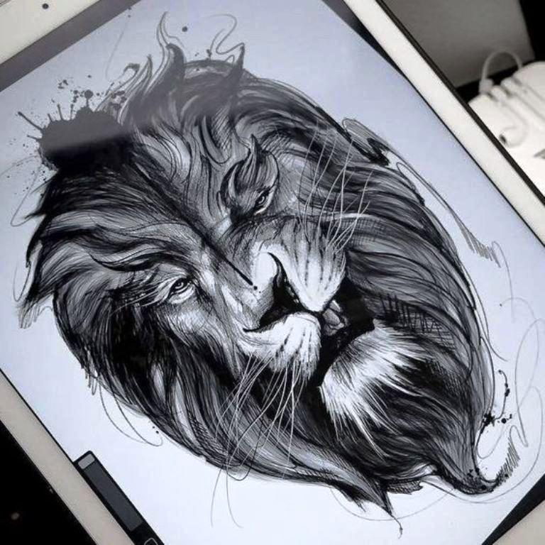 tattoo mix dövmecim aslan dövmeleri (11)