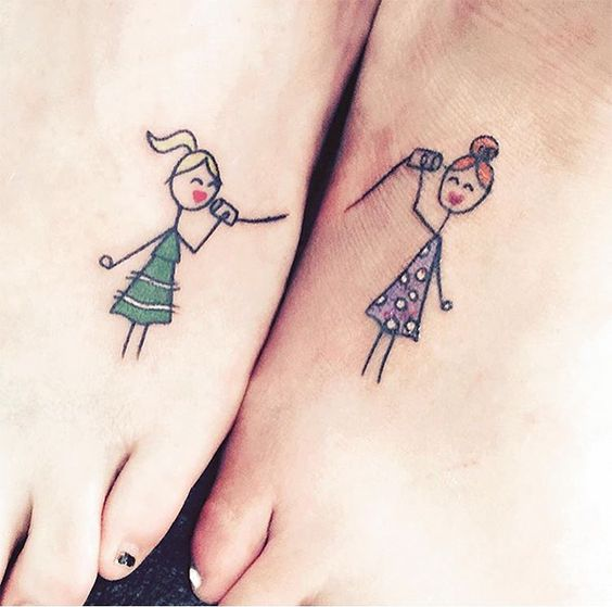 tattoo mix dövmecim dostluk dövmleri (10)