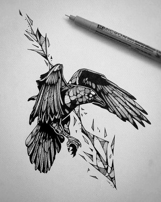 tattoo mix dövmecim karga dövmeleri (7)