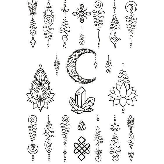 tattoo mix dövmecim unalome dövmeler (10)