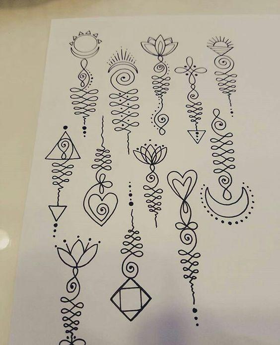 tattoo mix dövmecim unalome dövmeler (9)