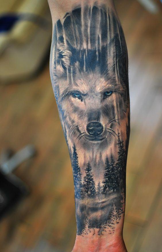 Best Wolf Tattoos Designs 100