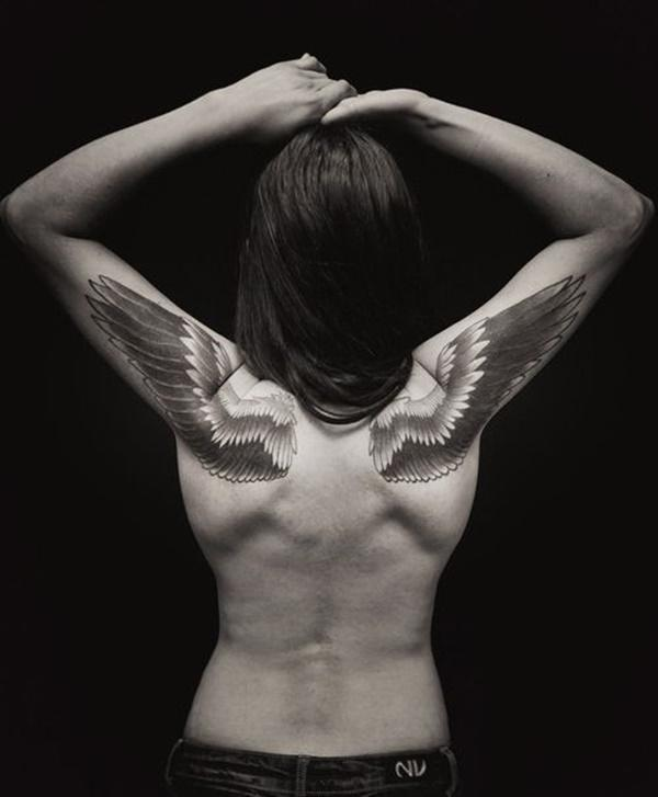 If you sick inner freedom - a pair angel wings tattoo may help you
