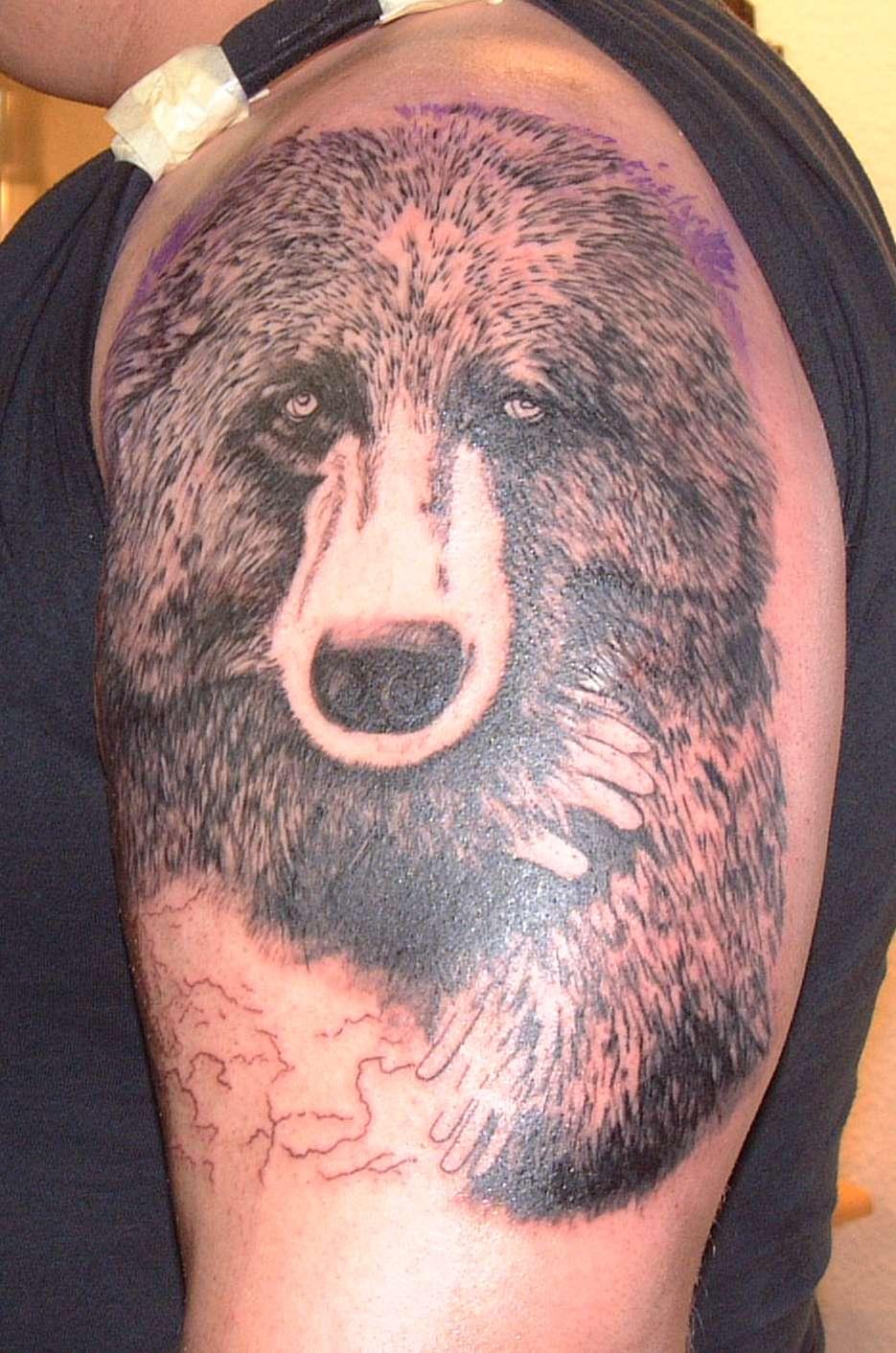Grizzly Bear Tribal Tattoo
