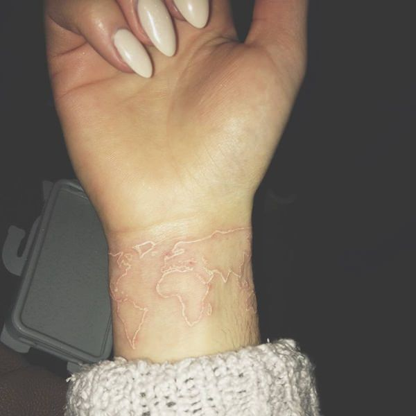 White Ink Wrist Tattoos Designs Ideas And Meaning
