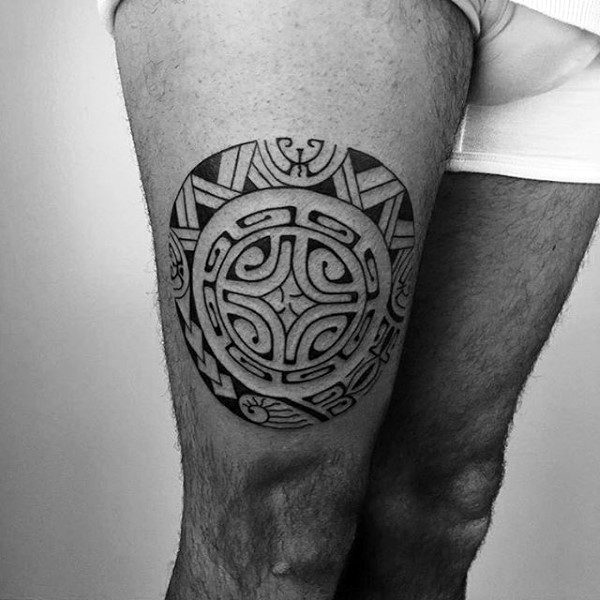 Tribal Thigh Tattoos Designs Ideas and Meaning Tattoos