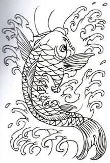 Famous Outline Koi Fish Best Tattoo