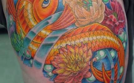 7dc2ea094 Flower and Koi Fish Tattoo | Gardening: Flower and Vegetables