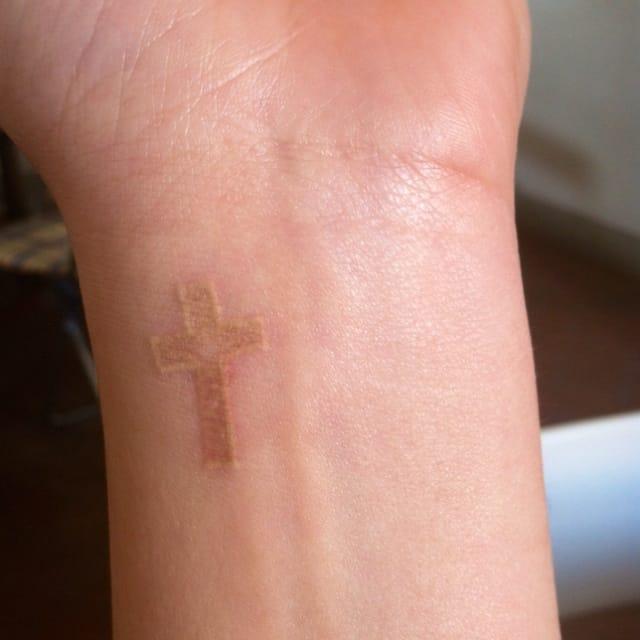 white-tattoo-cross-design