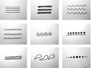 Henna stencil tattoo