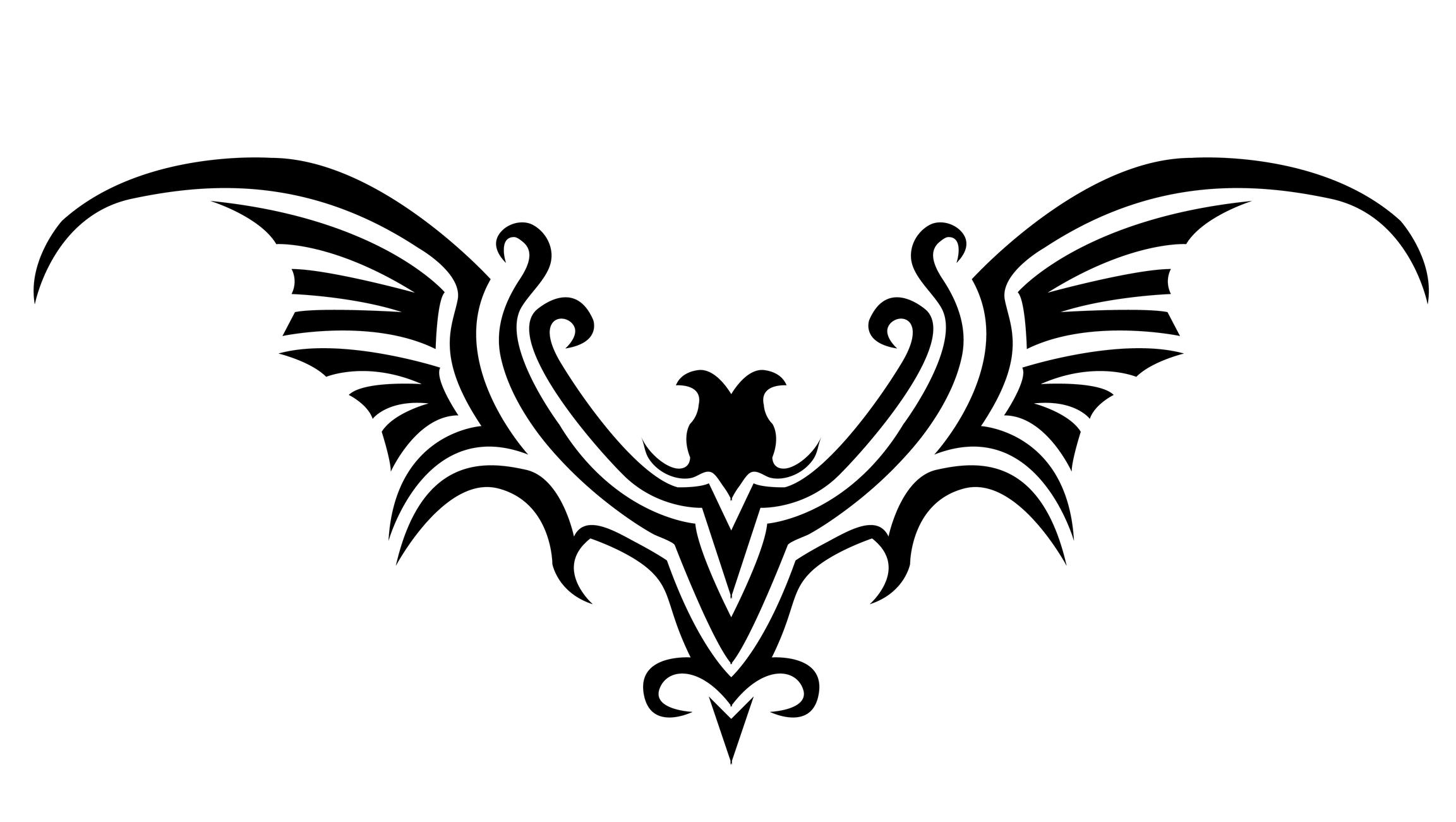 Gothic Bat Tattoo Design