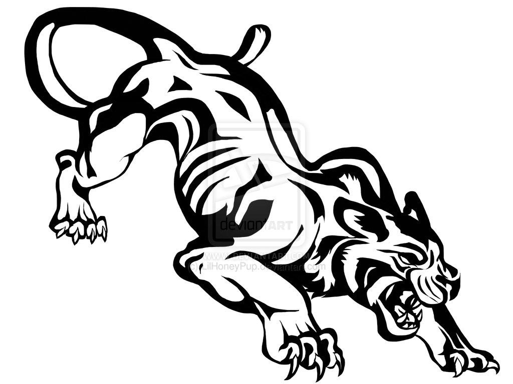 Tribal Panther Face