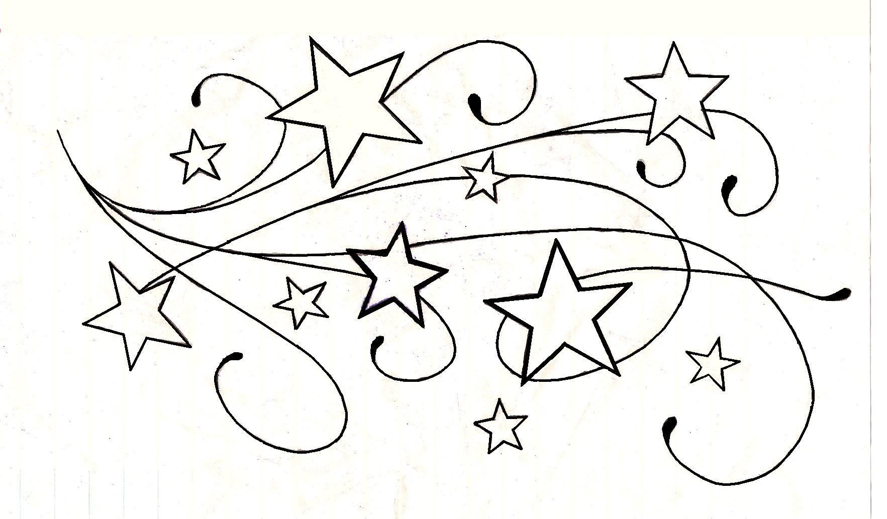 Outline Star Tattoos Designs