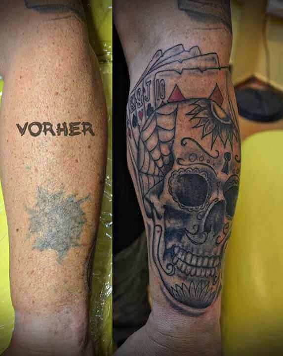 Tattoo Cover up Tattoo Totenkopf
