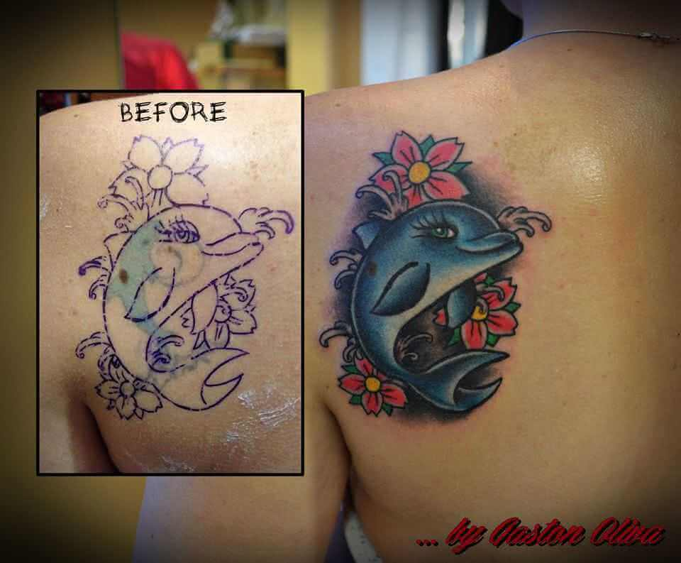 Tattoo Schulter Tattoo Delfin