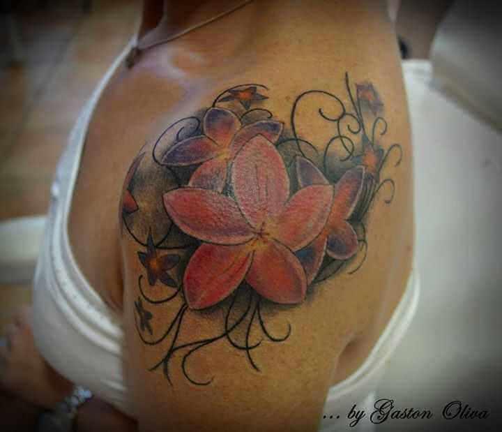 Tattoo Schulter Tattoo Orchidee