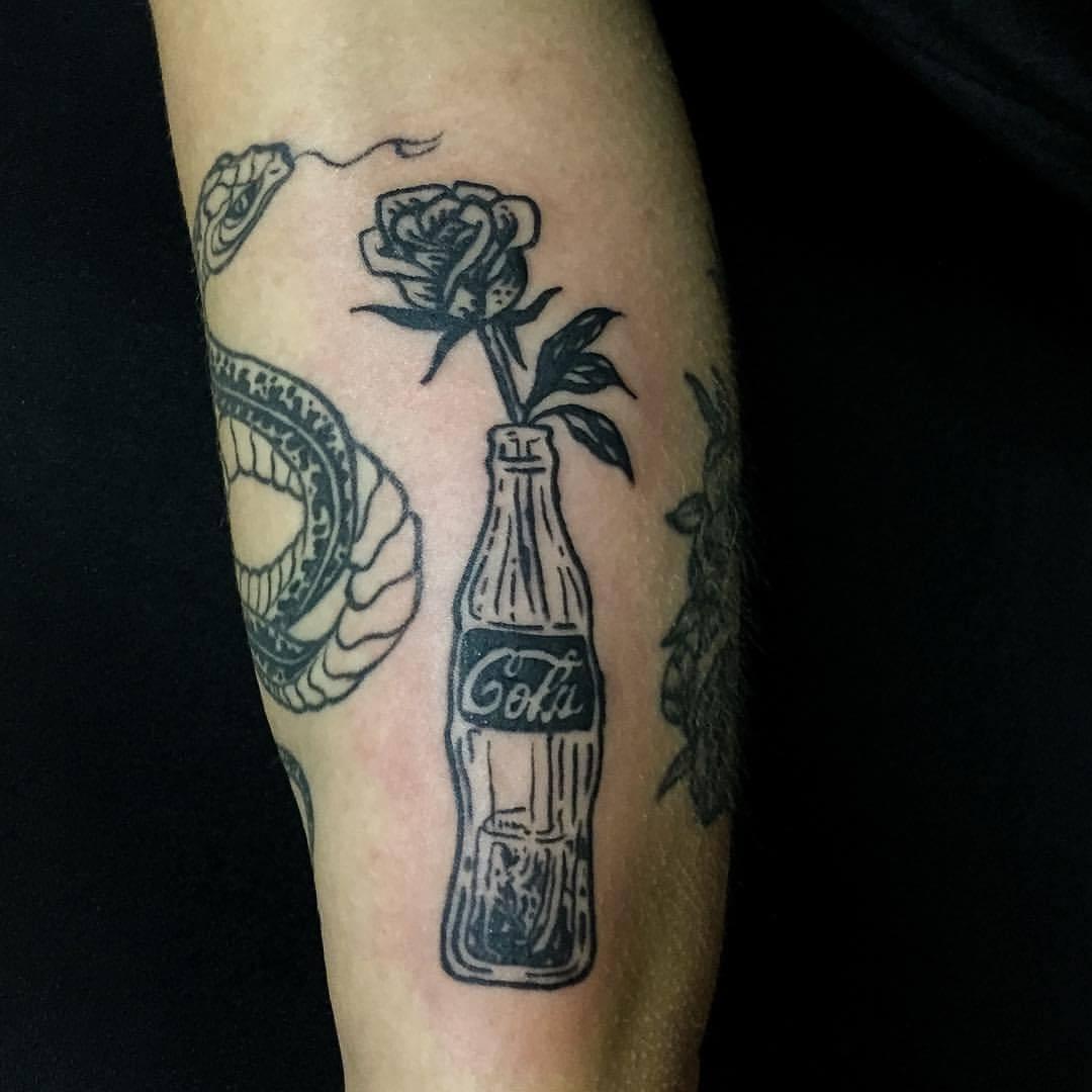 Tattoo Cola Vase