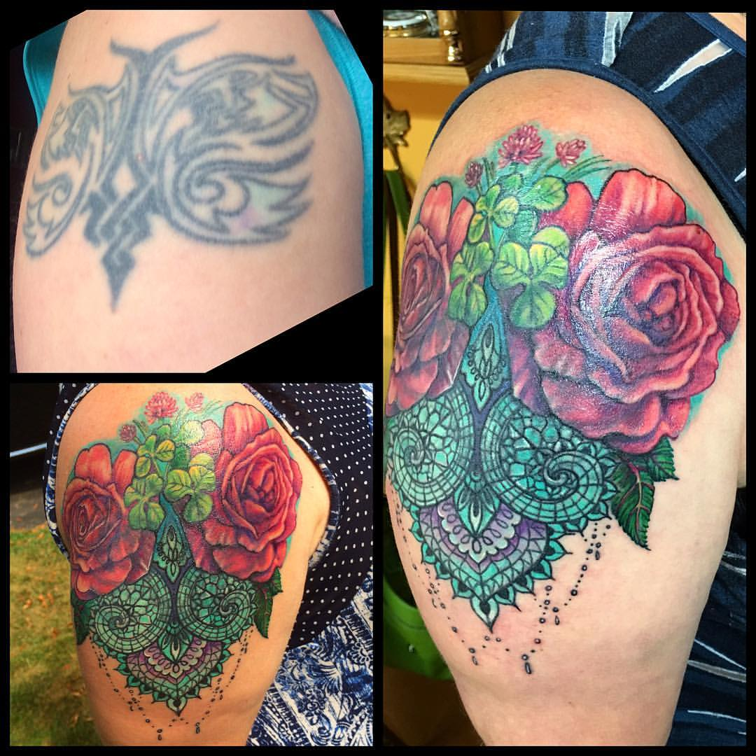 Tattoo Cover Up Blumen