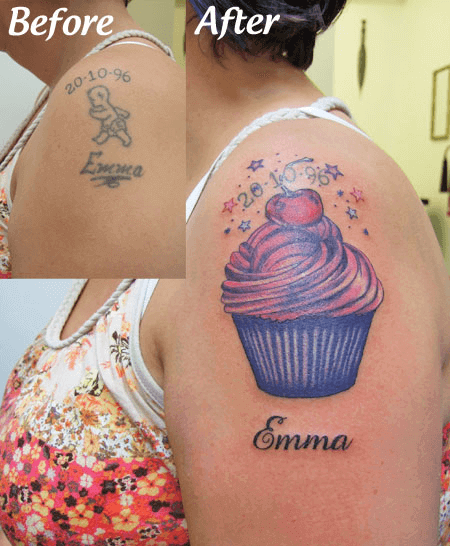 Tattoo Cover up New School