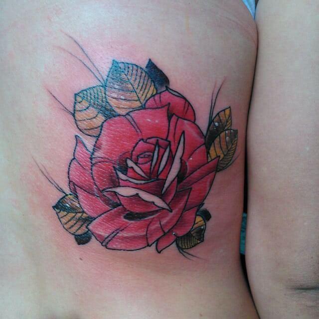 Tattoo farbige Rose