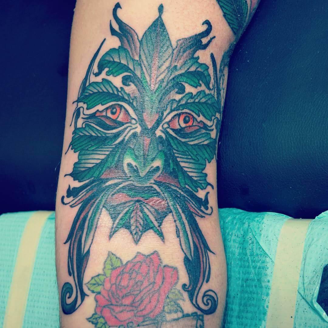 Tattoo Grüner Mann