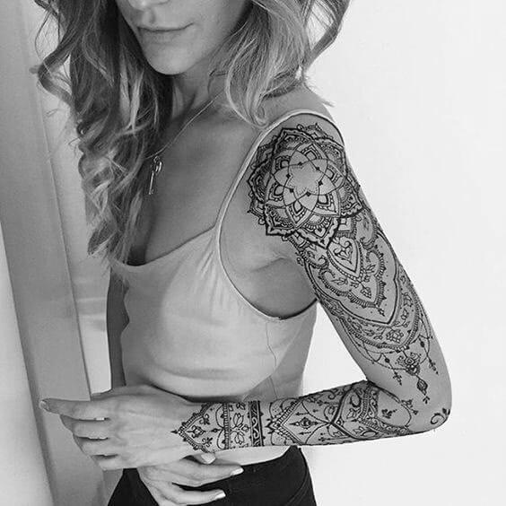 Tattoo Henna Arm Sleeve