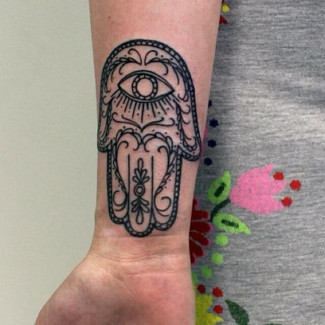 Tattoo Henna Hand der Fatima