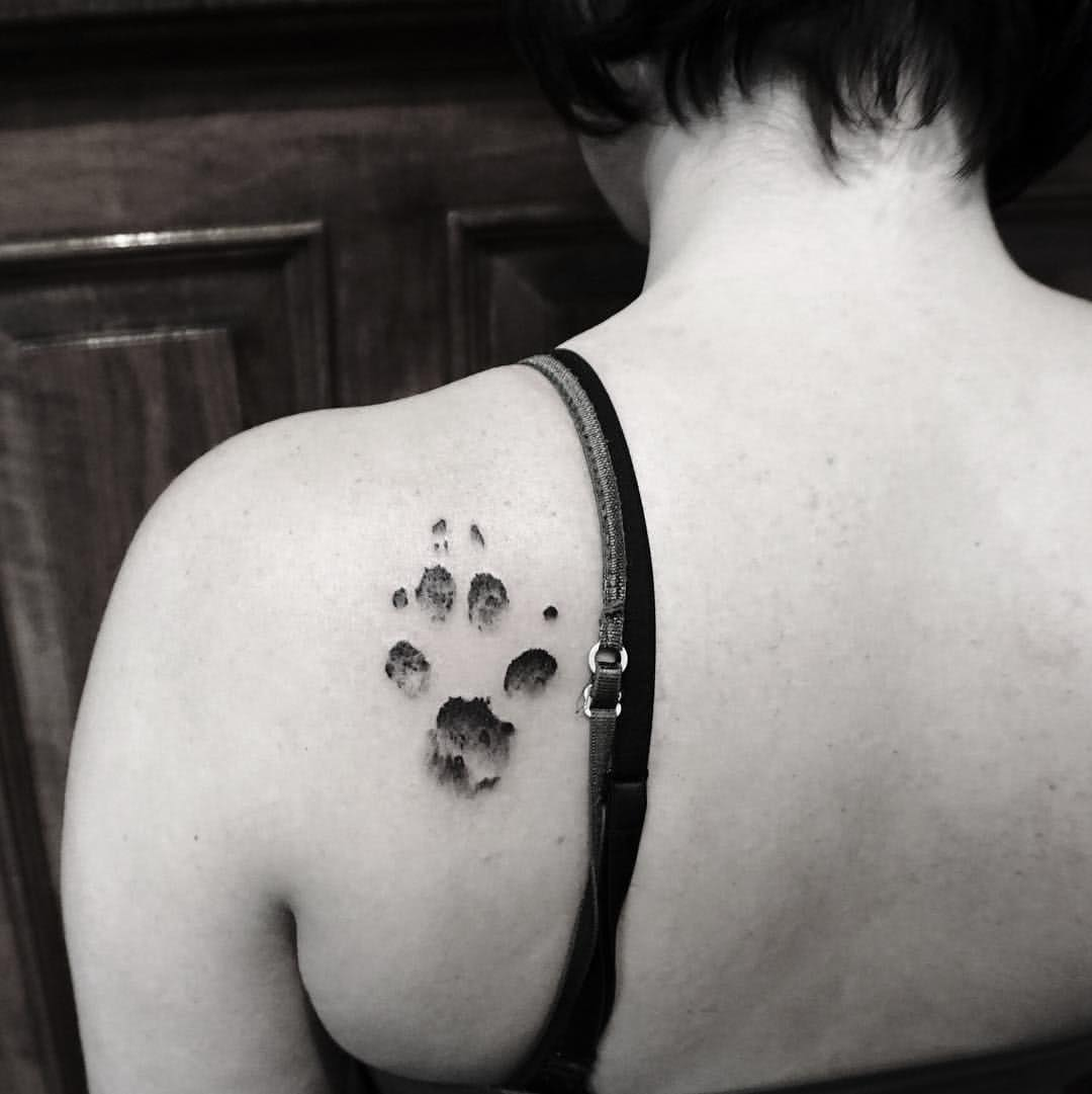 Tattoo Hundepfote Hund Pfote