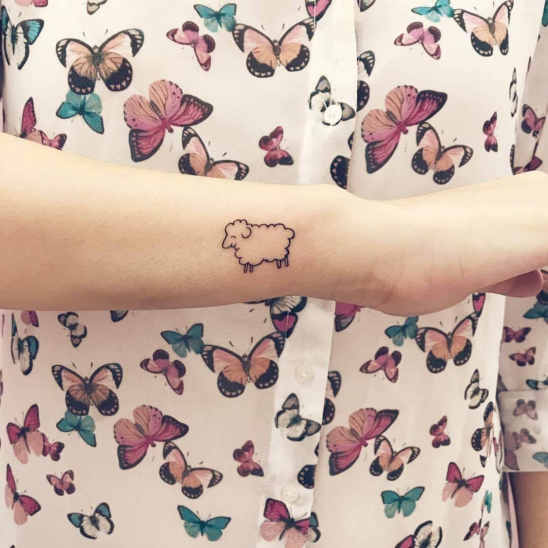 Tattoo Miniatur Schaf