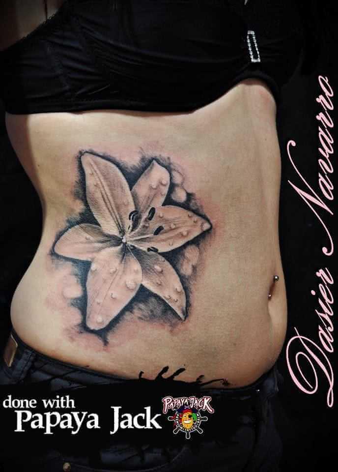 Tattoo Tattoo Oberkörper Orchidee