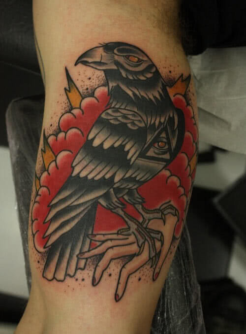 Tattoo Oldschool Rabe