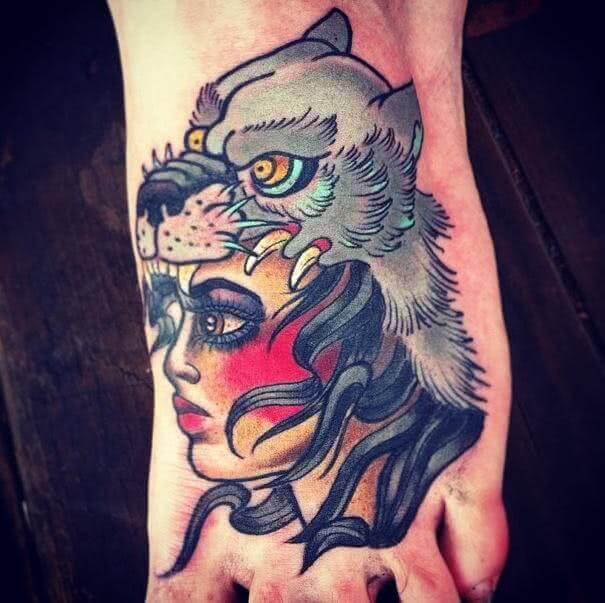 Tattoo Schaf im Wolfspelz
