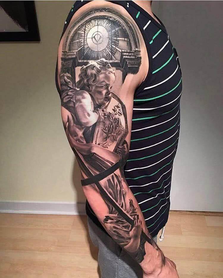 Tattoo Sehr realistisches Fullsleeve