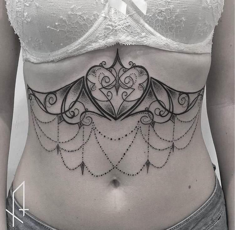 Underboob Tattoo Trends 11