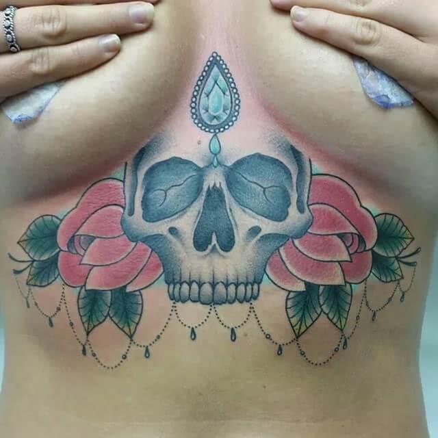 Tattoo Underboob Tattoo Totenkopf