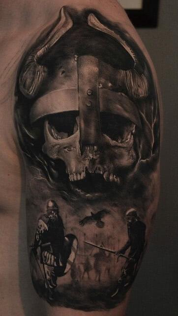 Tattoo Wikinger Kopf