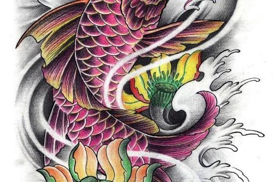Significado de pez koi pez koi tattoo design bild for Significado de pez koi