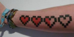 Corazón pixelado