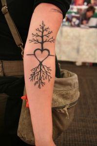 Corazón con ramas