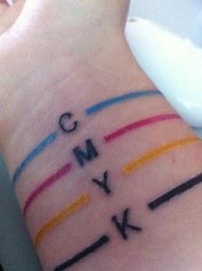 Tatuajes para diseñadores: CMYK
