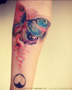 Mariposa & Corazón by Ondrash tattoo