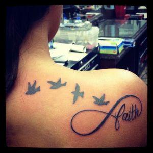 Frase: Faith, Aves, Infinito