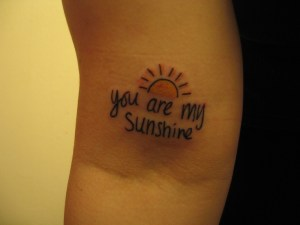Frase: You are my sunshine & Sol