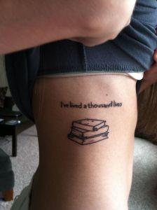 Frase: I´ve lived a thousand lives y Libros