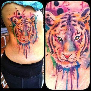 Tigre en Acuarelas