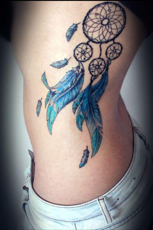 Atrapasue 241 Os Y Plumas Azules Tatuajes Para Mujeres